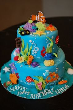 Kids Cakes - Cake Art by Rabia - fondant coral and seaweed decor