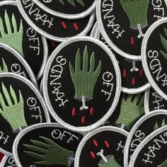 Hands Off Patch by kwtallantdesigns on Etsy