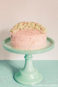 Spirulina cake with almond and mascarpone filling <3 recipe in link