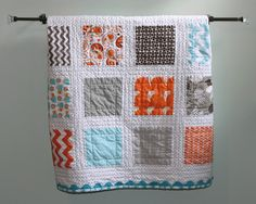 A Little Bit Biased - a quick charm squared quilt.