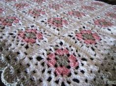 crochet blanket with various squares - Google Search