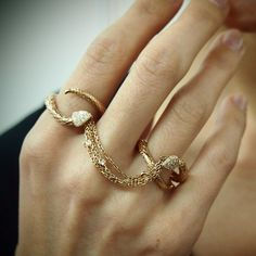 "Diamond ""Serpentchain"" Ring by Yeprem for Plukka: https://www.plukka.com/jewelry/store/product?prodid=Diamond-Serpentchain-Ring_3cdfde867ba927350e1fd39ada00df4b"