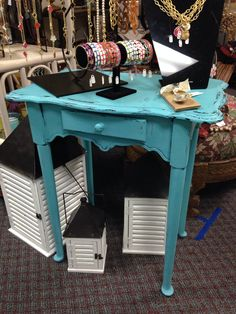 Shabby chic tall table