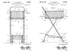Taking Design Inspiration from the Humble Shopping Cart: wireframe blueprint shopping cart Sylvan Goldman