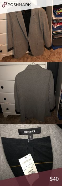 Medium Gray blazer Brand new condition, never worn, still has tags. Runs big. Express Jackets & Coats Blazers