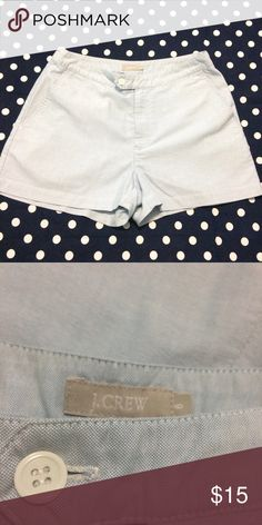J Crew Shorts Blue Oxford Preppy Flat Front Shorts- 100% Cotton- like new condition- inseam measures 3 inches J. Crew Shorts