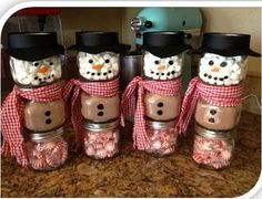Snow Man Hot Chocolate in a jar