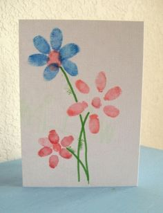 Mother's day card using finger prints by Jmontague