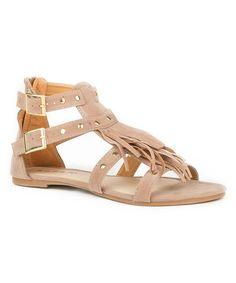 Tan Fringe Gladiator Sandal