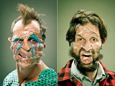 Tale of the tape: Albuquerque photographer uses Scotch tape on faces to capture wildly expressive portrait series - NY Daily News