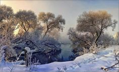 Winter in Russia Landscape Photos, Landscape Photography, Impressionist Paintings, Best Photographers, Winter Scenes, Art Techniques, Winter Christmas, Beautiful Landscapes, Aesthetic Wallpapers