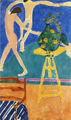 """Painting by Henri Matisse Nasturtiums with the Painting """"Dance"""" I, Oil on canvas. © 2016 Succession H. Matisse / Artists Rights Society (ARS), NY Matisse Kunst, Matisse Art, Henri Matisse Dance, Maurice De Vlaminck, Matisse Paintings, Frida Art, Illustration Art, Illustrations, Plastic Art"""