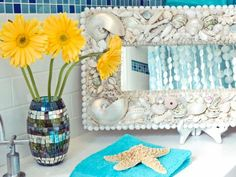 HGTV has inspirational pictures, ideas and expert tips on seashell bathroom decor ideas that add a bit of the seaside to your bathroom design.
