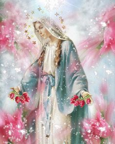 Prayer To Mother Mary — Theresa Monro Mama Mary, Blessed Mother Mary, Divine Mother, Blessed Virgin Mary, Virgin Mary Art, Mother Mary Images, Images Of Mary, Religious Pictures, Jesus Pictures