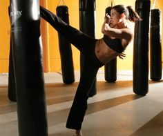 The only exercise I have ever stuck with - kickboxing is awesome. 500 calories burned in an hour apparently!