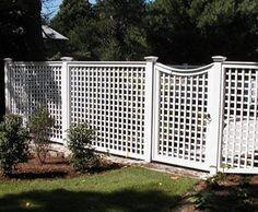 Grey Wood Lattice Fence And Gate Wood Fence Pinterest