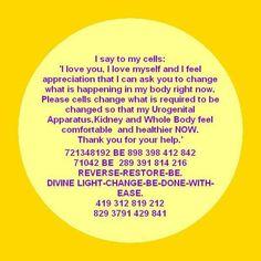 Kidneys, Uro-Genital & whole body Tarot, Healing Codes, Reiki Healer, Healing Spells, Switch Words, Spiritual Messages, Sound Healing, Journey Quotes, Mental Strength