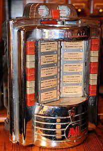 Diner table jukebox