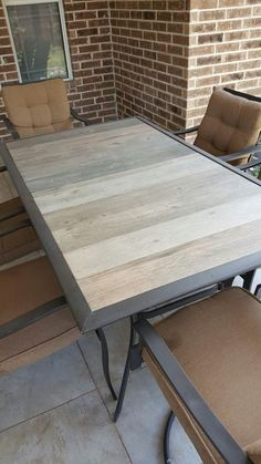 broken glass top patio table redone with wood home on the range in rh pinterest com