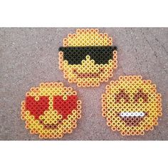 Emoticons hama beads by cosmichelen