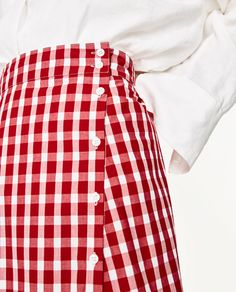 Image 7 of GINGHAM FRILLED SKIRT from Zara