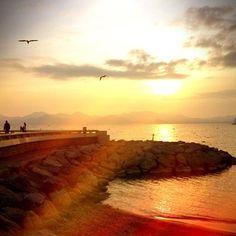 Coucher de soleil à #Cannes