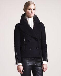 Dallington Cropped Pea Coat