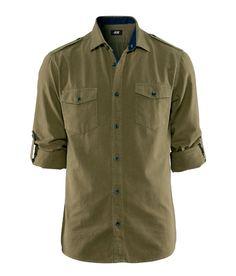 Camiseta verde militar Primavera 2013 H