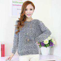 Autumn Fashion Thicker Round Collar Sweater