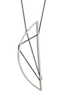 Demi Selene Necklace 105 in Sterling Silver and Oxidized Silver