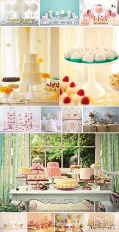 Lovely dessert tables!