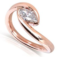 Marquise Diamond Ring 1/2 Carat in 14k Gold (Certified)
