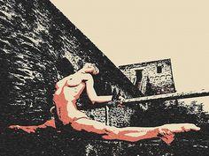 #Erotic #Art 200gsm poster - #Sporty #Slave, erotic nude poster, sexy slave girl artwork, hardcore fetish fantasy