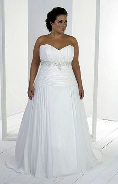 c098715f3ce Plus Size Wedding Dress. Not crazy about the top on this one Plus Size  Wedding