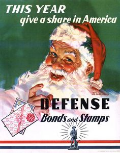 Give a share, America ♦ WWII Christmas poster promoting the purchase of war bonds and stamps,1941