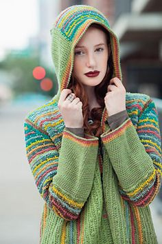 ao with <3 / boah, wow ... Chromatic Hoodie pattern by Annie Modesitt. Interweave Crochet Winter 2014 shared at http://www.facebook.com/crochetersanonymous