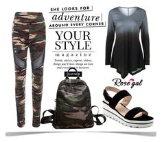 """""""Rosegal 19"""" by munira-salihovic ❤ liked on Polyvore featuring Kate Spade and Pussycat"""