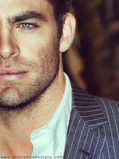 I do enjoy the awesome jaw line/scruffy beard combo...  #guiltypleasure  Chris Pine