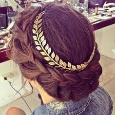 beautiful hairstyle for a greek themed wedding                                                                                                                                                                                 More