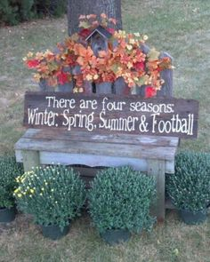 """I'm making this! Except it will say """"deer season, spring, summer, and football!"""" Jake won't complain about a wreath/door art that way!"""