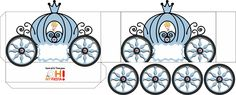 Cinderella Carriage Shaped Free Printable Box.