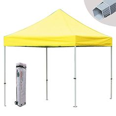 New Eurmax PRE Pop up Tent Commercial Outdoor Wedding Instant Gazebo Canopy W  Rolling Bag Yellow 10 X 10 *** Click image to review more details. This is an Amazon Affiliate links.