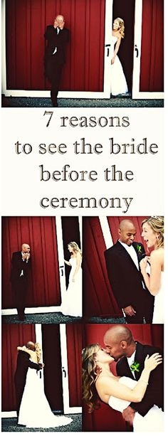7 reasons to see the bride before the ceremony