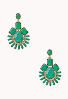 Art Deco Faux Stone Drop Earrings | FOREVER21 - 1000129587