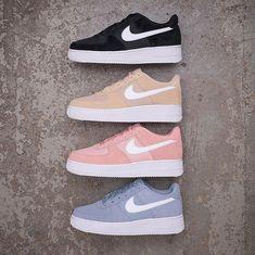 shoes - Fyra nya Air Force 1 GS, fyra nya favoriter blev d accessory Air blev favoriter Force Fyra GS nya Sneakers Fashion, Fashion Shoes, Shoes Sneakers, Dsw Shoes, Converse Shoes, Adidas Shoes, Vans Sneaker Herren, Nike Shoes Air Force, Aesthetic Shoes