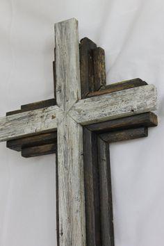 OKLAHOMA Small Wooden Rustic Cross 24 tall by OkieBudsWorkshop