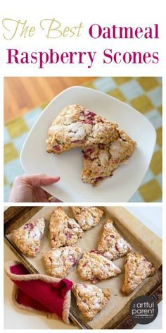 Recipe for The Best Raspberry Oatmeal Scones - Delicious and healthy!