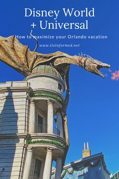 Find out how to plan a visit to Universal Orlando on your Disney World  vacation. Tips for where to stay, how to get there, and when to schedule  Universal into your trip. Orlando Travel, Orlando Vacation, Florida Vacation, Florida Travel, Disney World Vacation, Disney Vacations, Disney Trips, Disney Travel, Walt Disney
