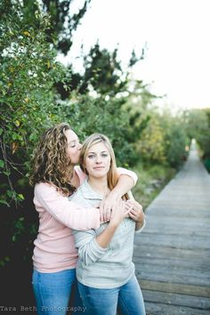 Fall Lesbian Engagement Shoot In Fire Island, New York. Photography by Tara Beth Photography.