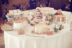 Mr. Humphries and Mavis would LOVE this cake table.